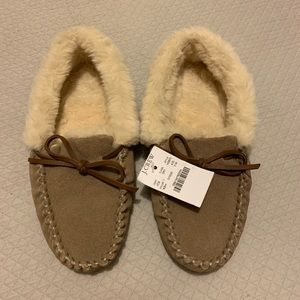J Crew 7 suede slippers NWT